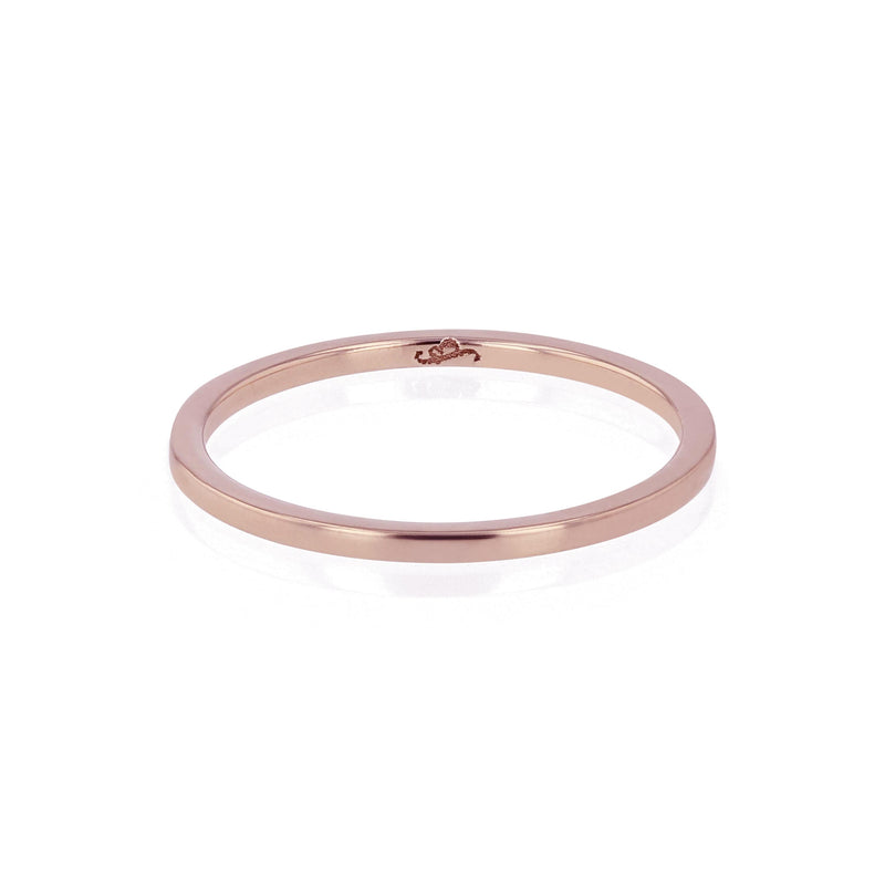 Wedding Band | Fine Square Rose Gold | Sarah & Sebastian