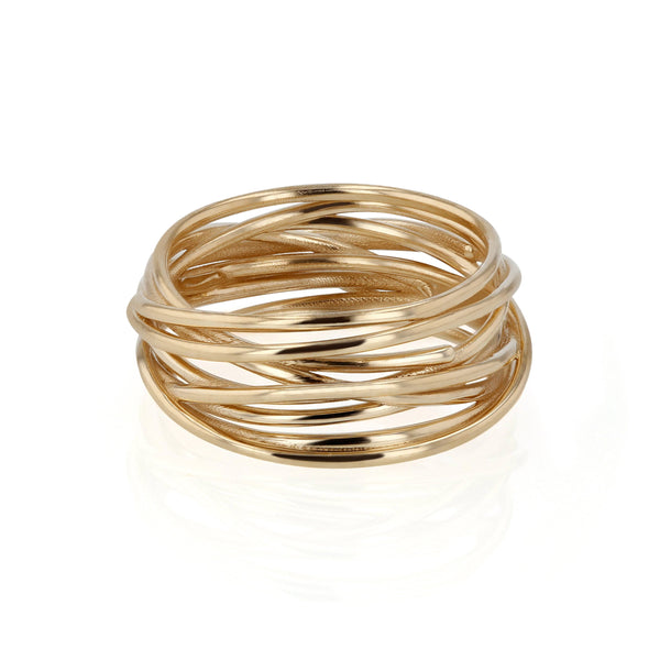 Wide Bound Ring Yellow Gold | Sarah & Sebastian