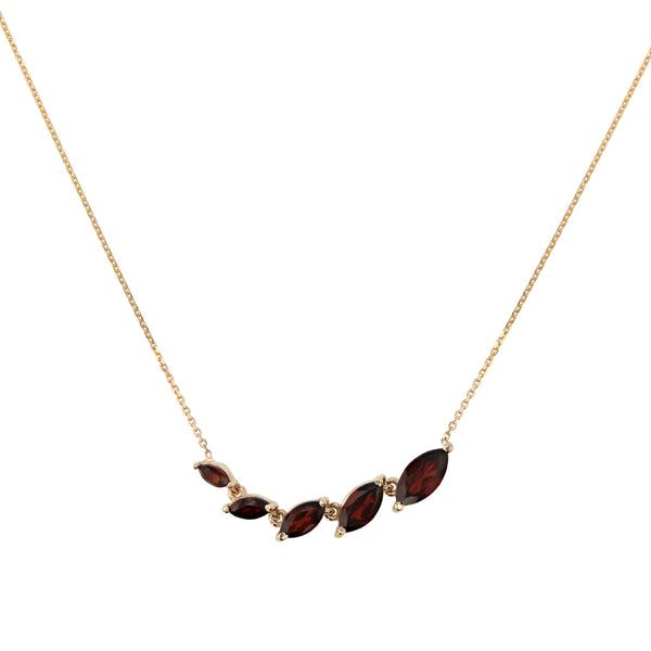 Winedark V Necklace Gold | Sarah & Sebastian