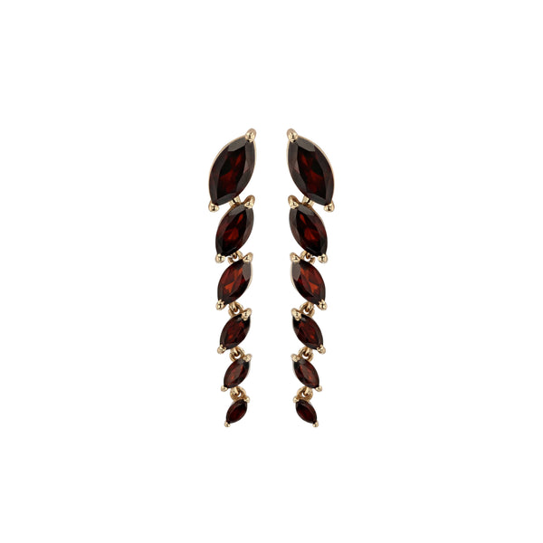 Winedark Chain Earrings Gold | Sarah & Sebastian