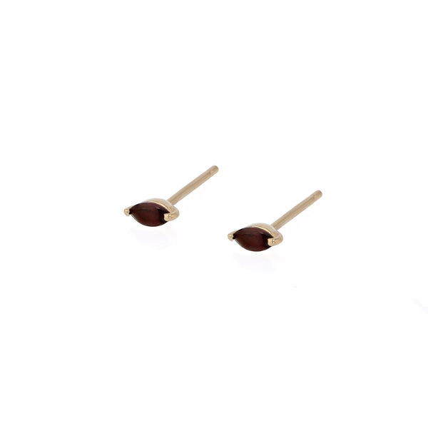 Winedark Stud Earrings Gold | Sarah & Sebastian