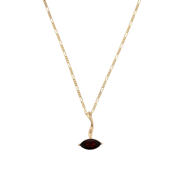 Winedark Form Necklace Gold | Sarah & Sebastian
