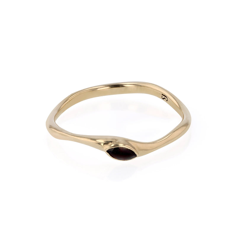 Winedark Form Ring Gold | Sarah & Sebastian