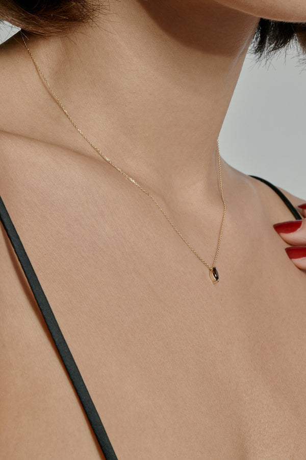 Winedark Garnet Necklace Gold | Sarah & Sebastian onBody