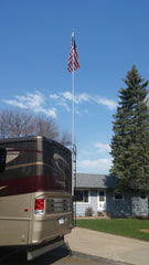 RV Fiberglass Telescoping Flagpole kits, Flagpoles, Hardware, and Mounts for RVs