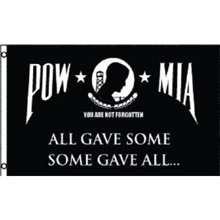 POW-MIA All Gave Some Some Gave All 3x5 Flag