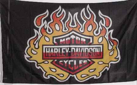 Harley Flame 3x5 Flag