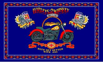 Harley's & Whiskey 3X5 Flag