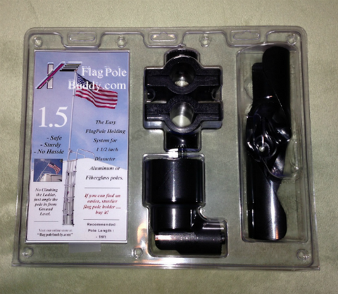 "1.5"" RV Flagpole Ladder Mount (flag pole buddy) Works great with our 16' flagpole."