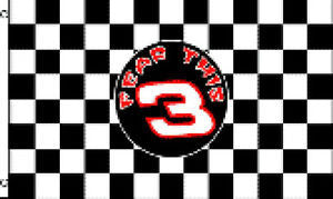 Black & White Checkered 3x5 Flag