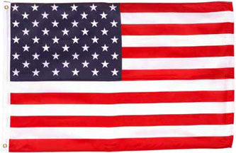American Embroidered Flags 3x5 - 4x6 - 5x8