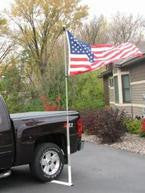 Drive on mount for our 22' RV fiberglass telescoping flagpole