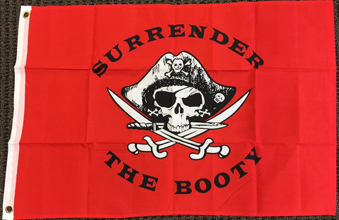 Surrender the Booty Pirate 3x5 Flag