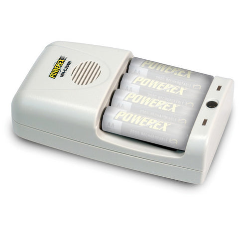 Powerex MH-C204W 1-Hour Worldwide Travel Conditioning Charger for AA / AAA NiMH Batteries