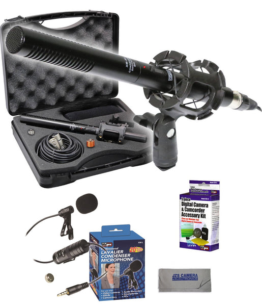 Vidpro XM-55 Shotgun Microphone Kit with Lens Cleaning Set /& Microfiber Cloth