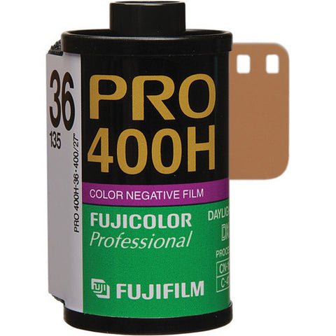 Fujifilm Fujicolor PRO 400H Professional Color Negative Film (36 Exposures) [5 Rolls]