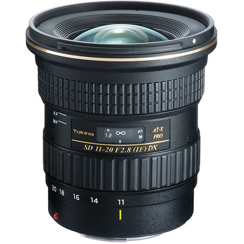 Tokina 11-20mm f2.8 Pro DX Wide-Angle Lens [Two Mount Options]
