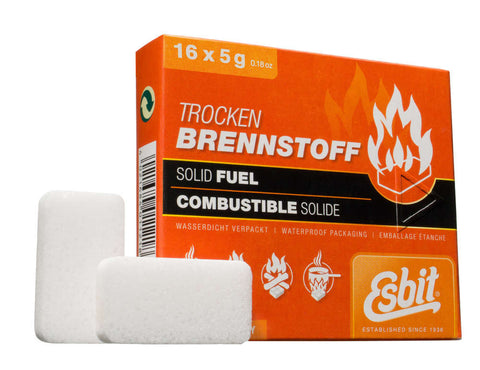 Esbit 5 gram Solid Fuel Tablets, 16 Pack