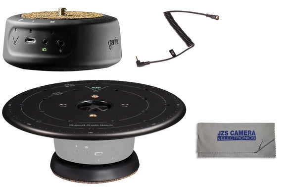 Syrp Genie Mini Panning Motion Control System & Syrp Product Turntable with FREE Dedicated Camera Link Cable and Microfiber Cleaning Cloth [Multiple Link Cable Options]