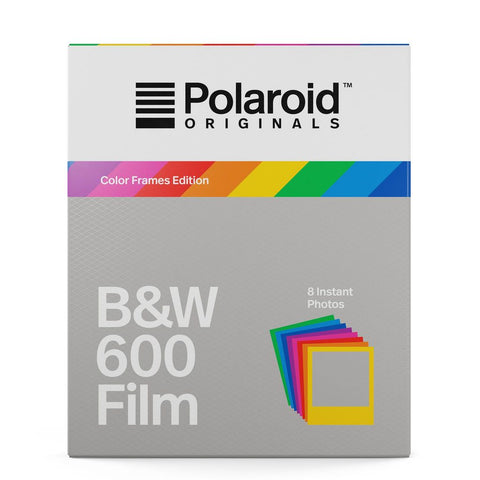 Polaroid Black & White Film for 600 and i-Type Cameras with Colored Frames (8 Exposures)