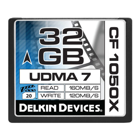 Delkin CF 1050X UDMA 7 Cinema Memory Card [Multiple Capacity Options]