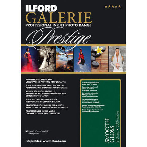 "Ilford Galerie Prestige Smooth Gloss 8.5x11"" [25 Sheet Pack]"