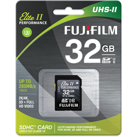 Fujifilm Elite II Performance UHS-II SDXC Memory Card [Two Size Options]