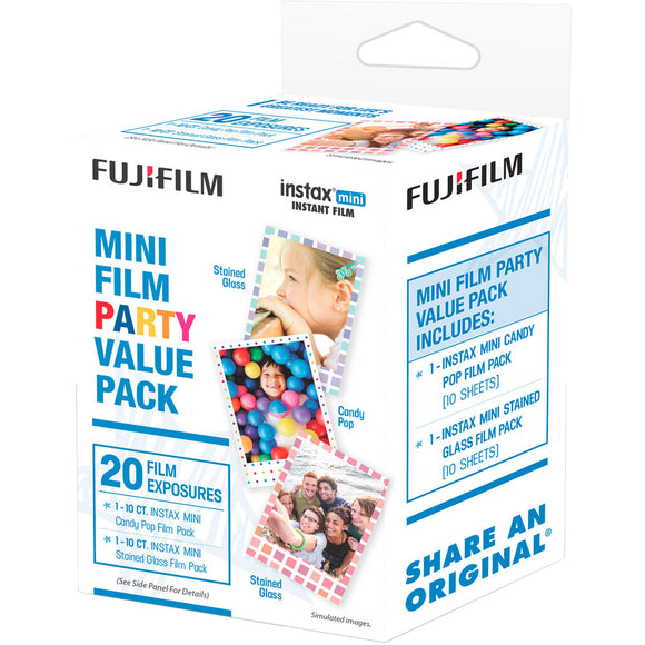 Fujifilm instax mini Instant Color Film Party Pack (20 Pack)