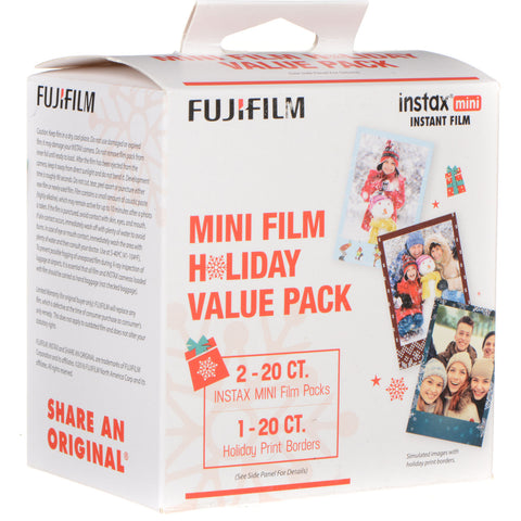 Fujifilm instax mini Instant Color Film Holiday Pack (40 Pack)