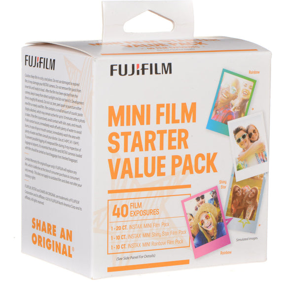 Fujifilm instax mini Instant Color Film Starter Pack (40 Pack)