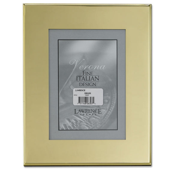 Lawrence Frames Brass Plated 5x7 Metal Picture Frame - Outer Edge