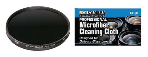 Syrp Super Dark Variable ND Filter with JZS Microfiber Cleaning Cloth [Two Size Options]