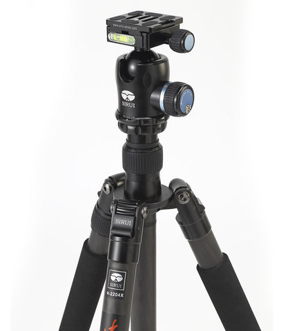 Sirui N-2204X  Medium Sized 4-Section Carbon Fiber Tripod (Includes Sirui USA 6-Year Warranty)