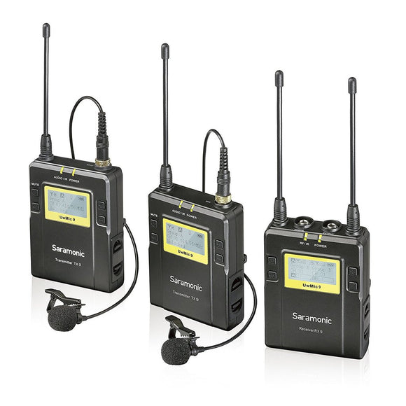 Saramonic UwMic9 Dual Channel UHF Wireless Lavalier Microphone System