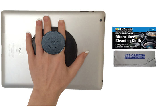 G-Hold Micro Suction Reusable Handhold for iPads, Tablets, eReaders, etc with JZS Cleaning Cloth [Multiple Color Options]