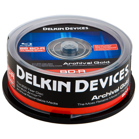 "Delkin Archival Gold Blu-ray ""200 Year Disc"" (25pc Spindle)"