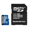 Delkin microSDXC 1900X UHS-I/UHS-II (U3) Memory Card with SD Adapter [Two Capacity Options]