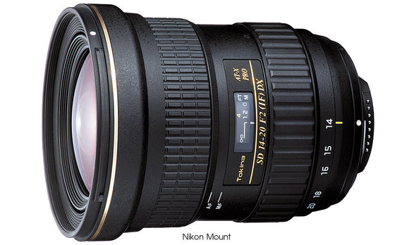 Tokina AT-X 14-20 F2 PRO DX Lens [Two Mount Options]