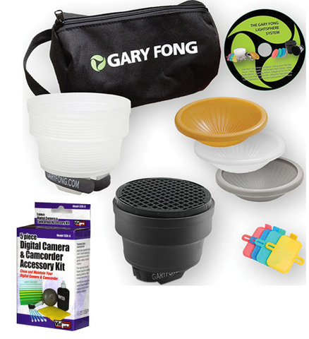 Gary Fong Collapsible Fashion & Commercial Lighting Kit with Camera Cleaning Set