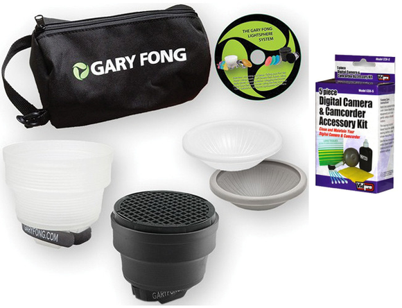 Gary Fong Lightsphere Collapsible Portrait Lighting Kit with Camera Cleaning Set