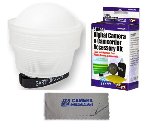 Gary Fong Lightsphere Collapsible with Speed Mount (Generation 5) with Camera Cleaning Set