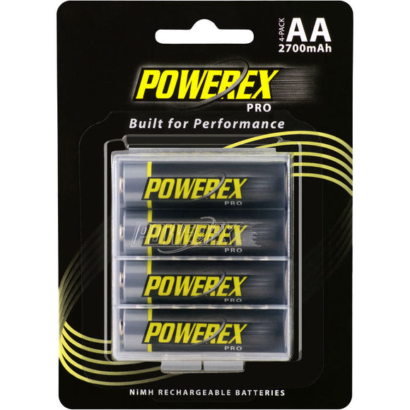 Powerex Pro Rechargeable AA NiMH Batteries [2700mAh, 1.2V] (4-pack)