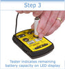 ZTS Mini Multi-Battery Tester with Soft Carrying Case and Cleaning Cloth