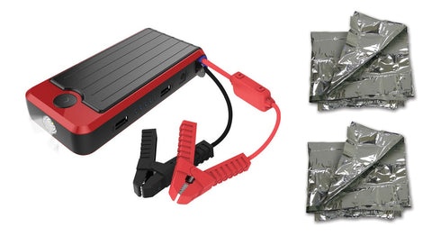 PowerAll Supreme 16,000mAh Car Jump Starter Kit with 2 Emergency Foil Blankets