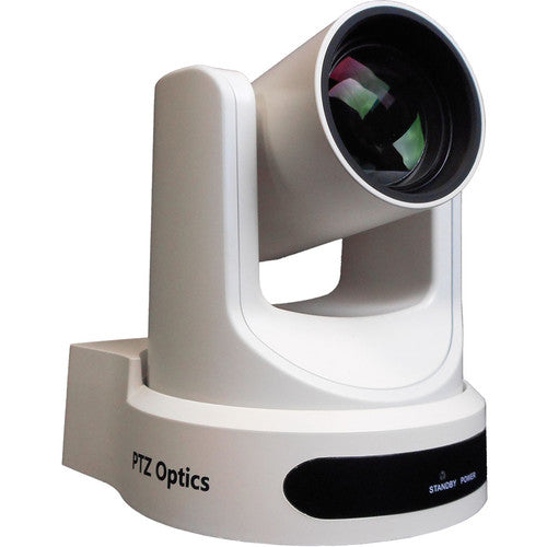 PTZ Optics 2 MP Full HD Indoor PTZ Camera 12 x Optical Zoom 1920 x 1080 at 60fps USB 3.0 HDMI IP Streaming CVBS 72.5 degree FOV (White)