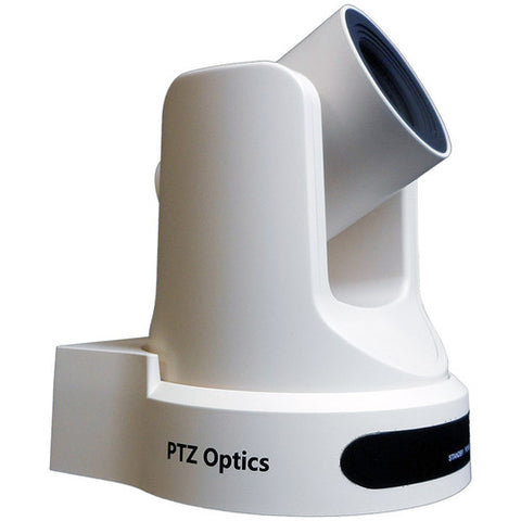 PTZ Optics 2MP Full High Definition Indoor PTZ Camera 20 x Optical Zoom 1920 x 1080 at 60fps USB 3.0 HDMI  IP Streaming CVBS 60.7 degree FOV (White)