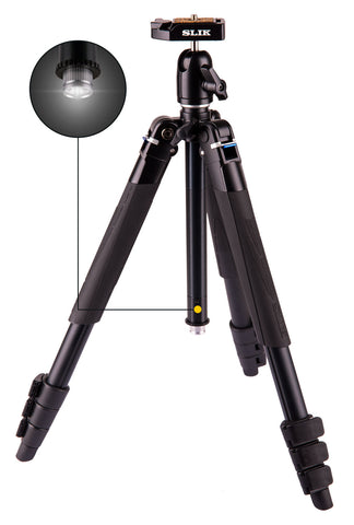 SLIK LITE AL-420M Travel Tripod with LED Flashlight