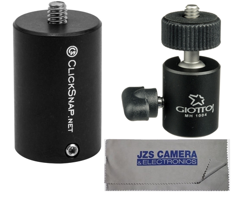 ClickSnap ProPole Painter's Pole Adapter with Giottos Mini Ball Head and Microfiber Cloth