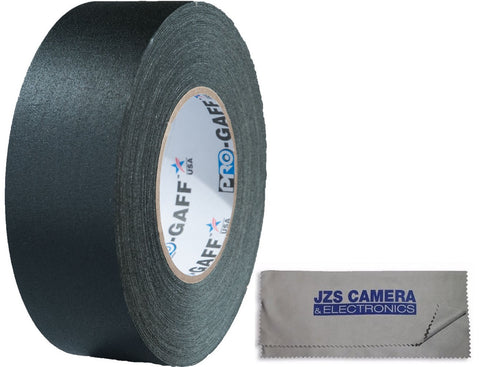 "Visual Departures 2"" Wide / 55 Yard Gaffer Tape Kit with JZS Microfiber Cleaning Cloth"