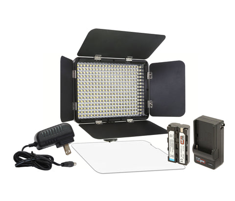Vidpro LED-330X Variable-Color On-Camera LED Video Light Kit
